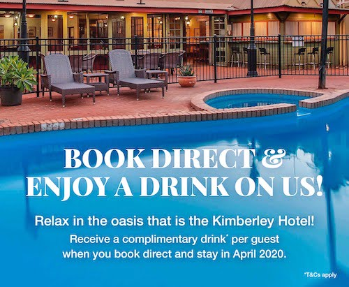 Kimberley Hotel April Promotion